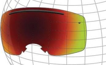 ski goggle spherical screen