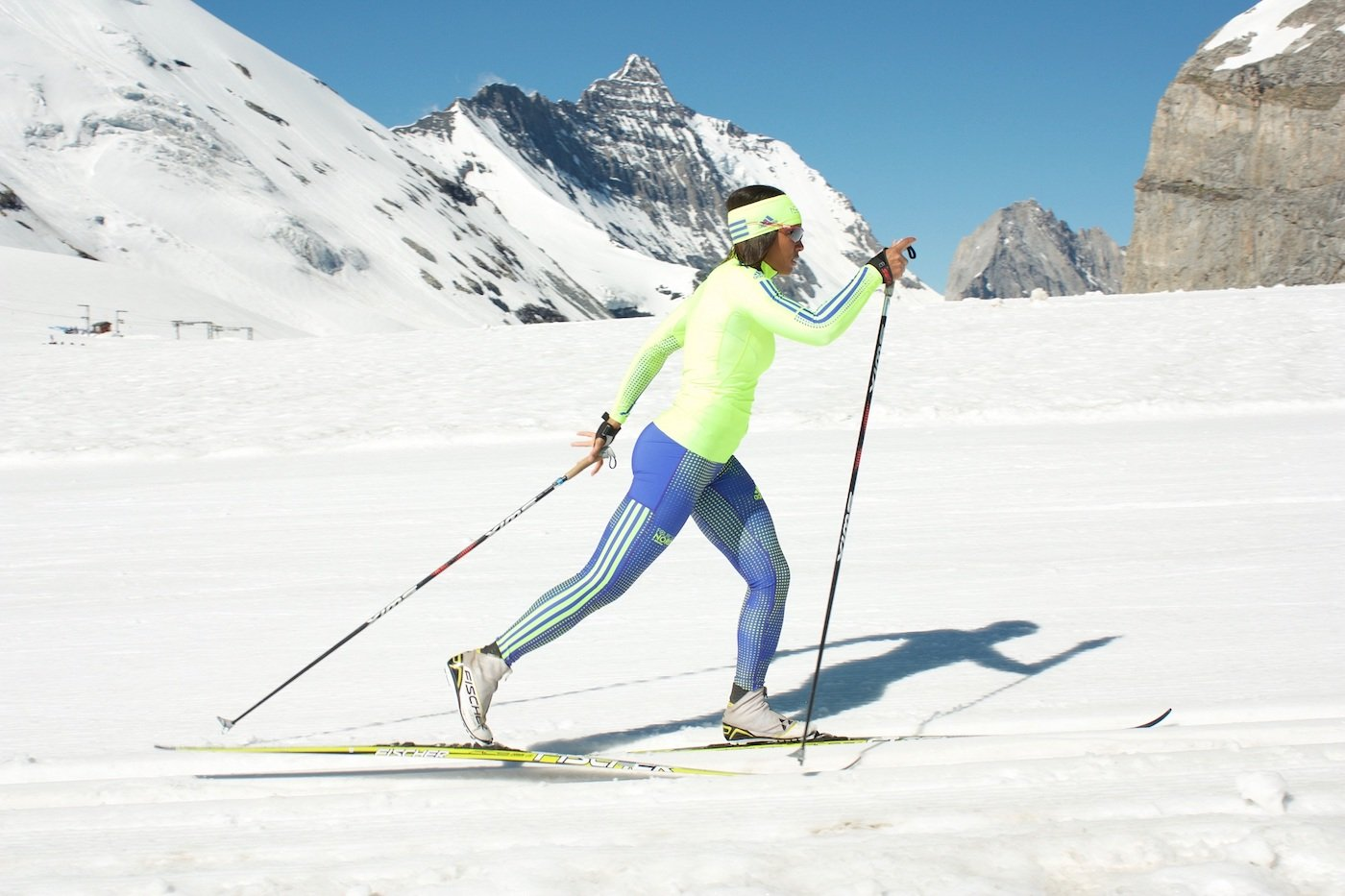 Classic stride cross-country ski