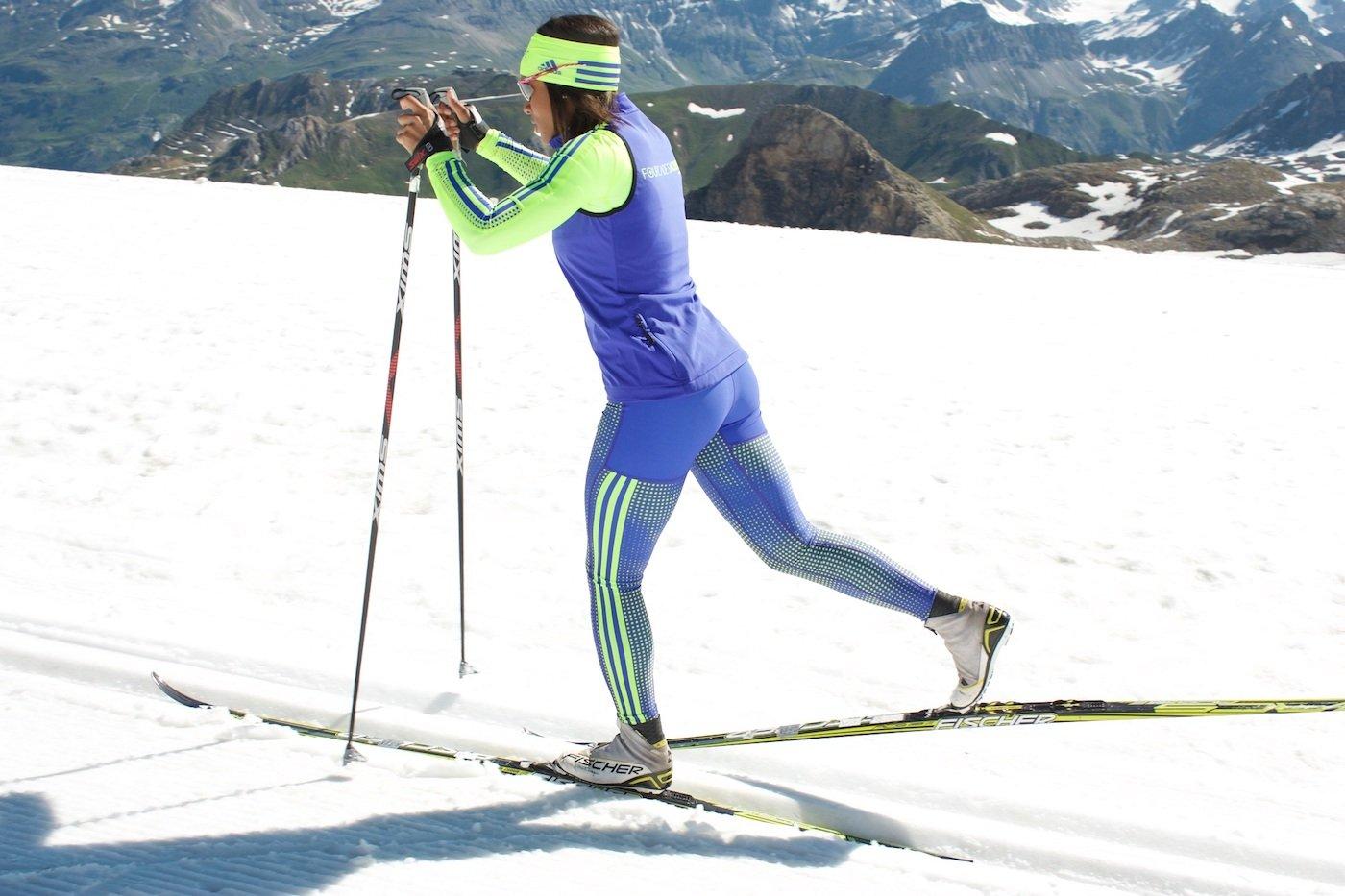 Pas de un en ski nordique