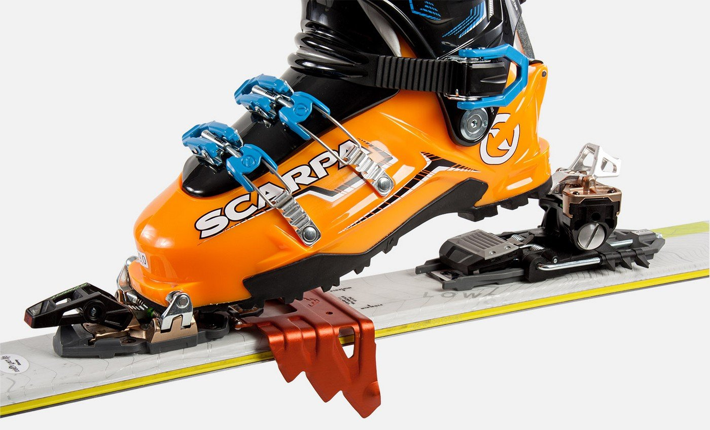 Crampon on touring bindings