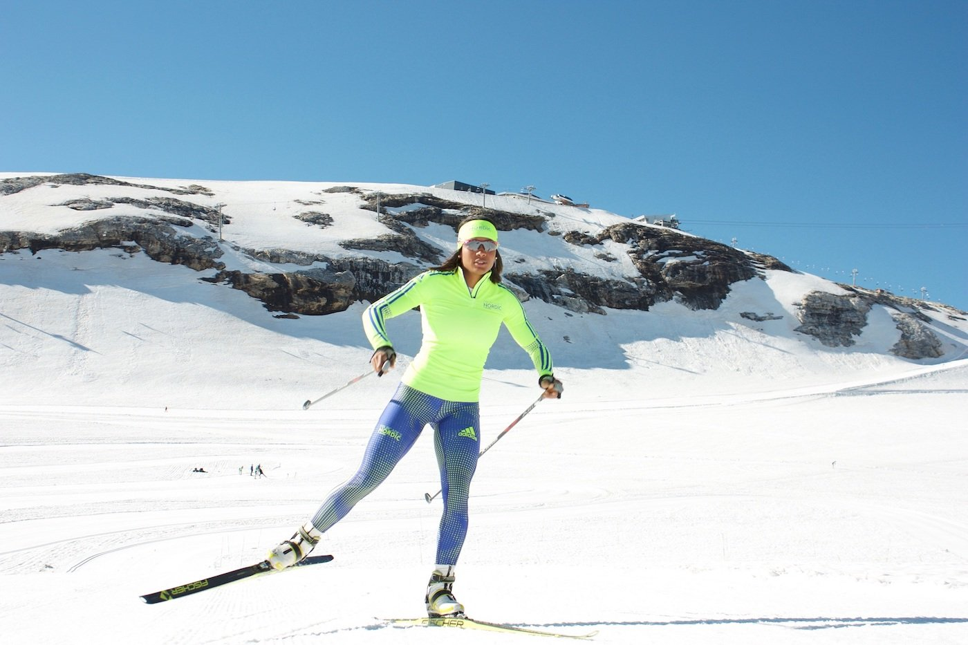 Skiing technique for nordic skiers