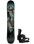 Pack snowboard + fixations