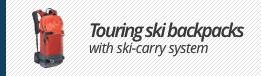 Touring ski backpacks