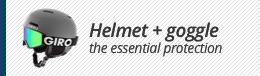 Goggle + helmets