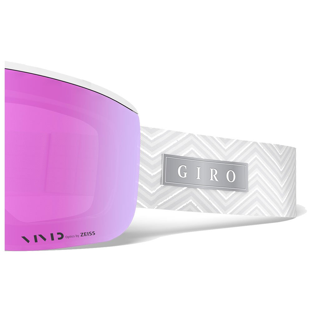 Giro Goggles Ella White Zag Vivid Pink + Vivid Infrared Front