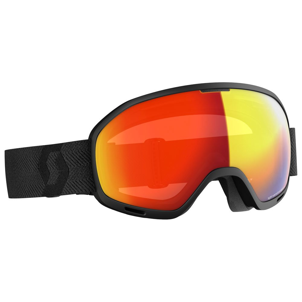 Scott Goggles Unlimited Ii Otg Ls Black Light Sensitive Red Chrome General View