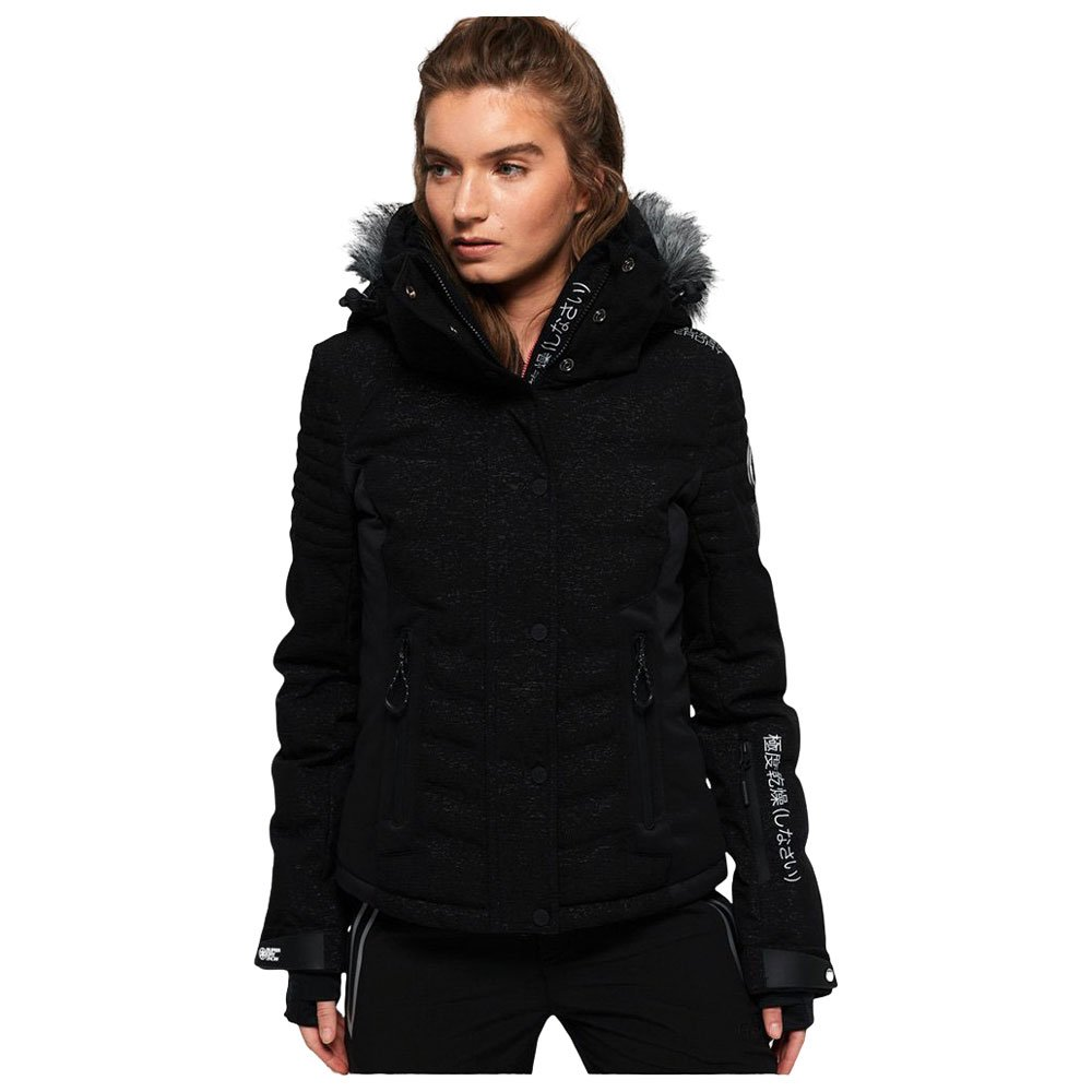 Funktionsjacke Superdry Luxe Snow Puffer Onyx Black Frost