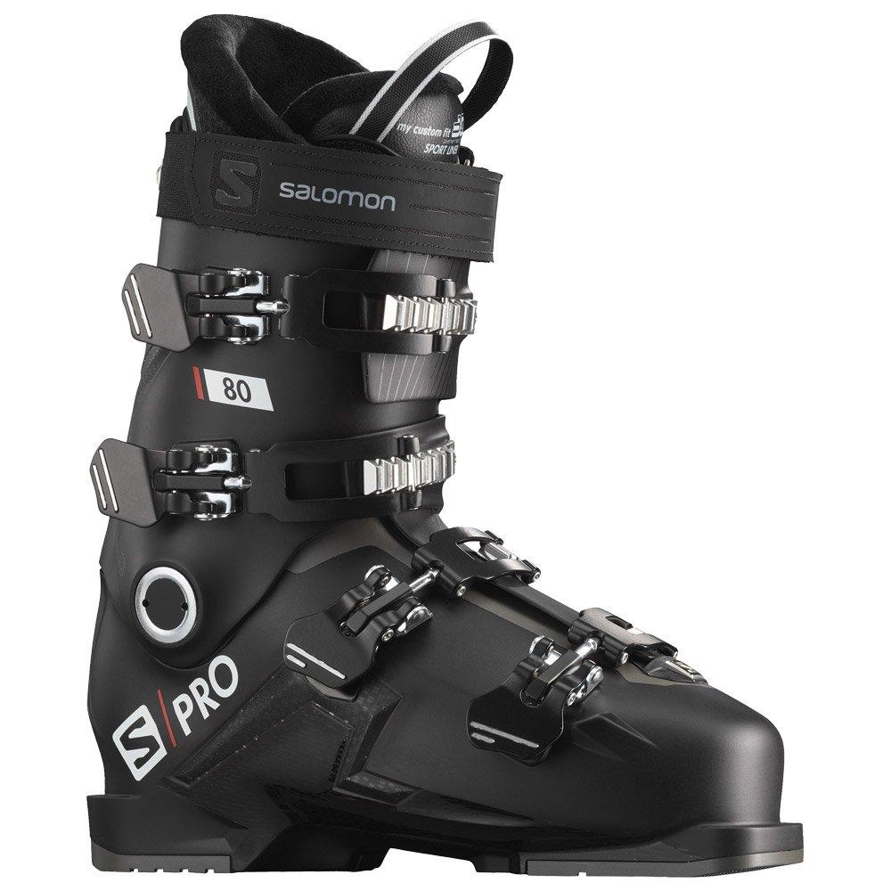 Skischuh Salomon Spro 80 Black Belluga Red