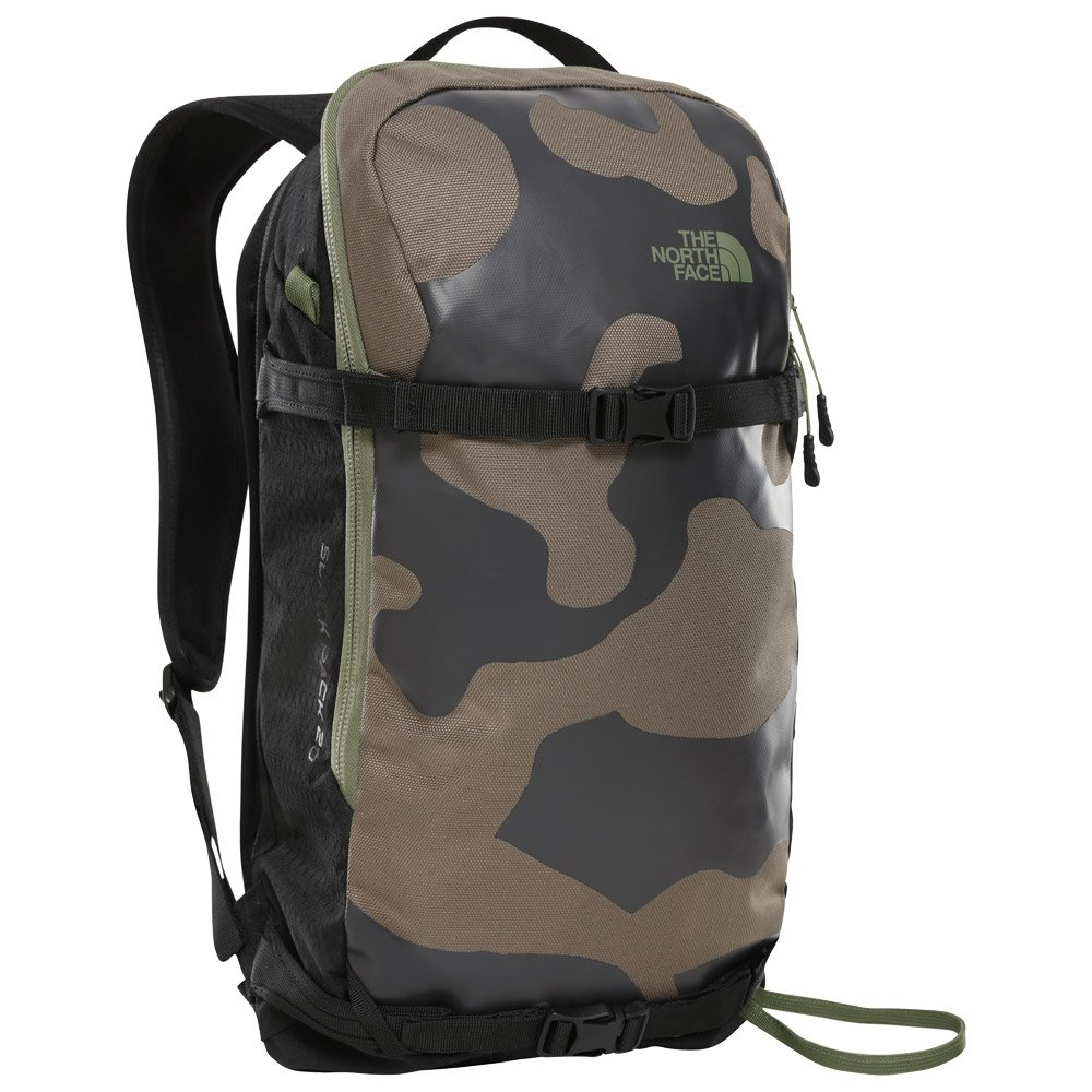 The North Face Backpack Slackpack Weimaraner Brown Camo Black 20 L General View