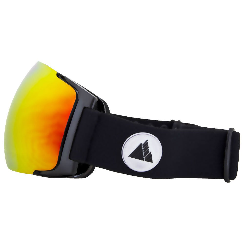 Winter Your Life Goggles Meije Black Lux3000 Red Ion + Lux1000 Yellow Coté-Catégorie-3