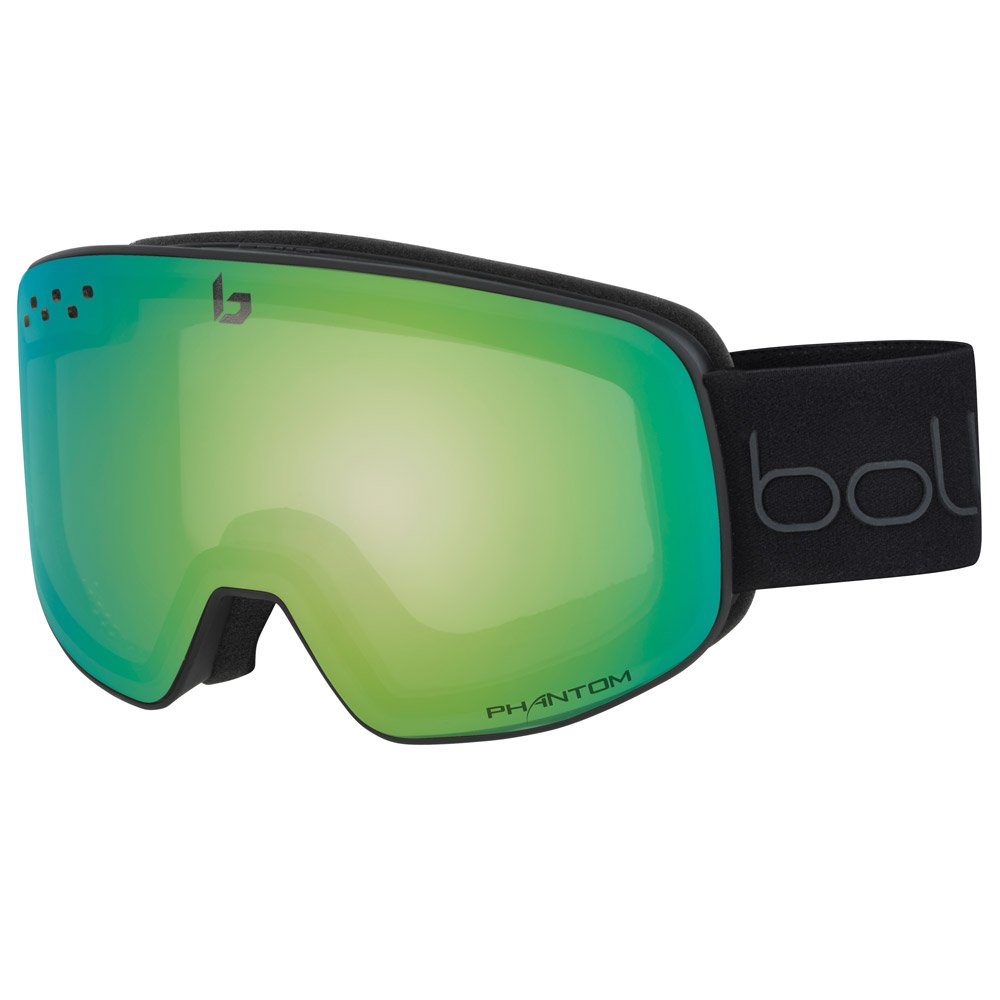 Bolle Goggles Nevada Matte Black & Green Diagonal Phantom Green Emerald General View