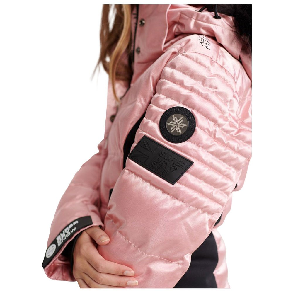 Funktionsjacke Superdry Luxe Snow Puffer Ice Pink Metallic