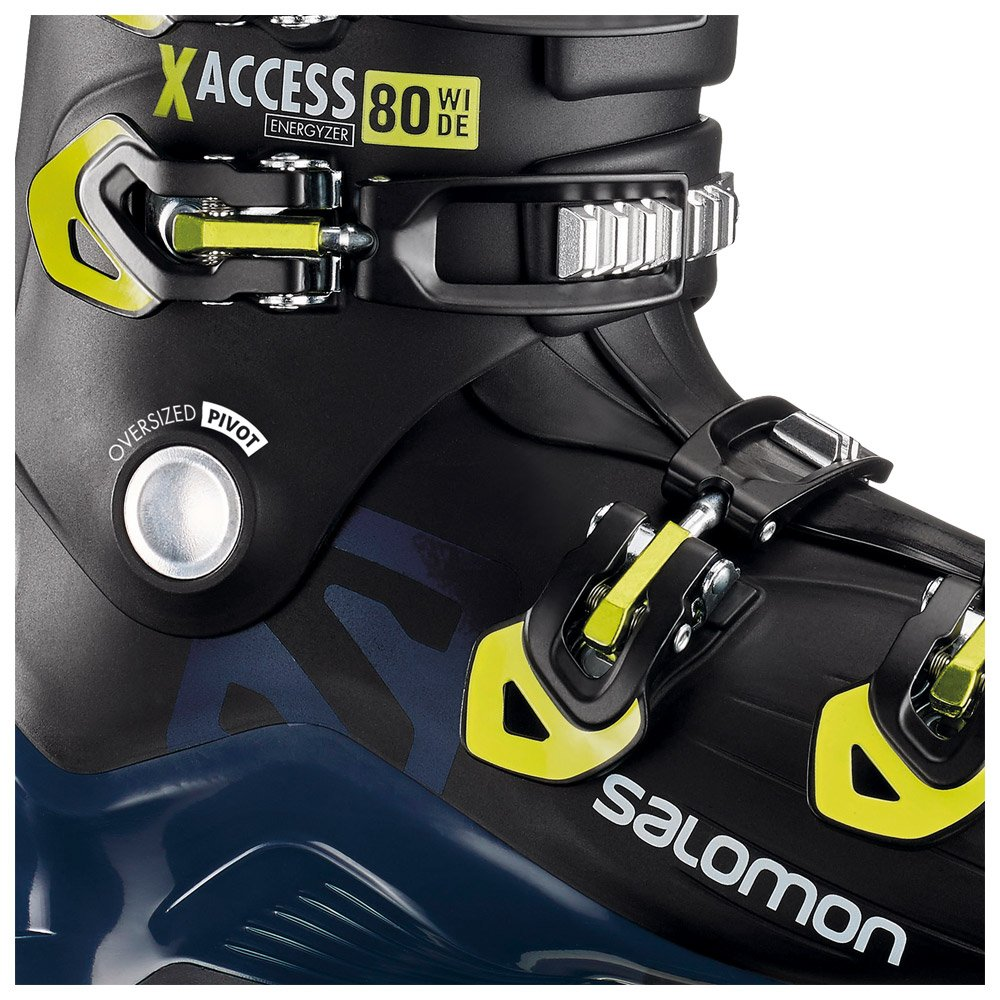 Skischuh Salomon X Access 80 Wide Black Petrol Blue Acid Green