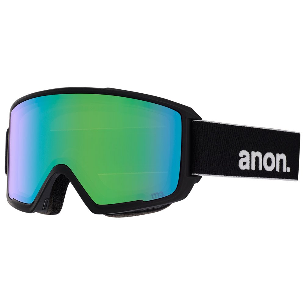 Anon Goggles M3 Mfi With Spare Black Sonar Green + Sonar Infrared General View