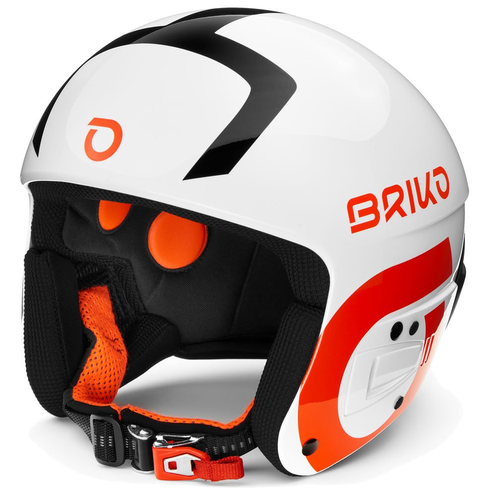 Briko Helmet Vulcano Fis 6.8 Fluid Mimpact S White Black Orange Overview