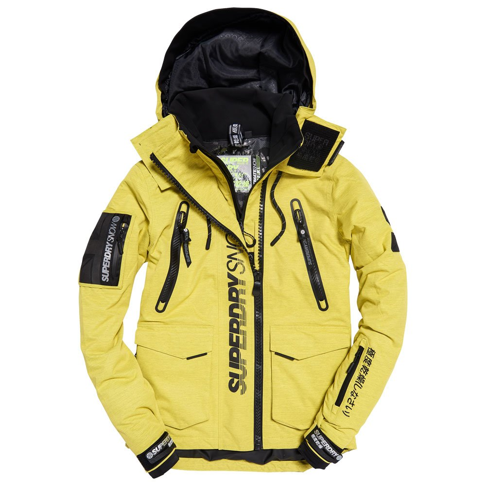 Superdry Ski Jacket Ultimate Snow Rescue Sulpher Yellow Winter 2020 Glisshop