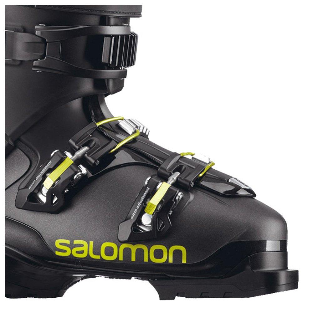 Skischuh Salomon Qst Access Custom Heat Metallic Black Black Acid Green