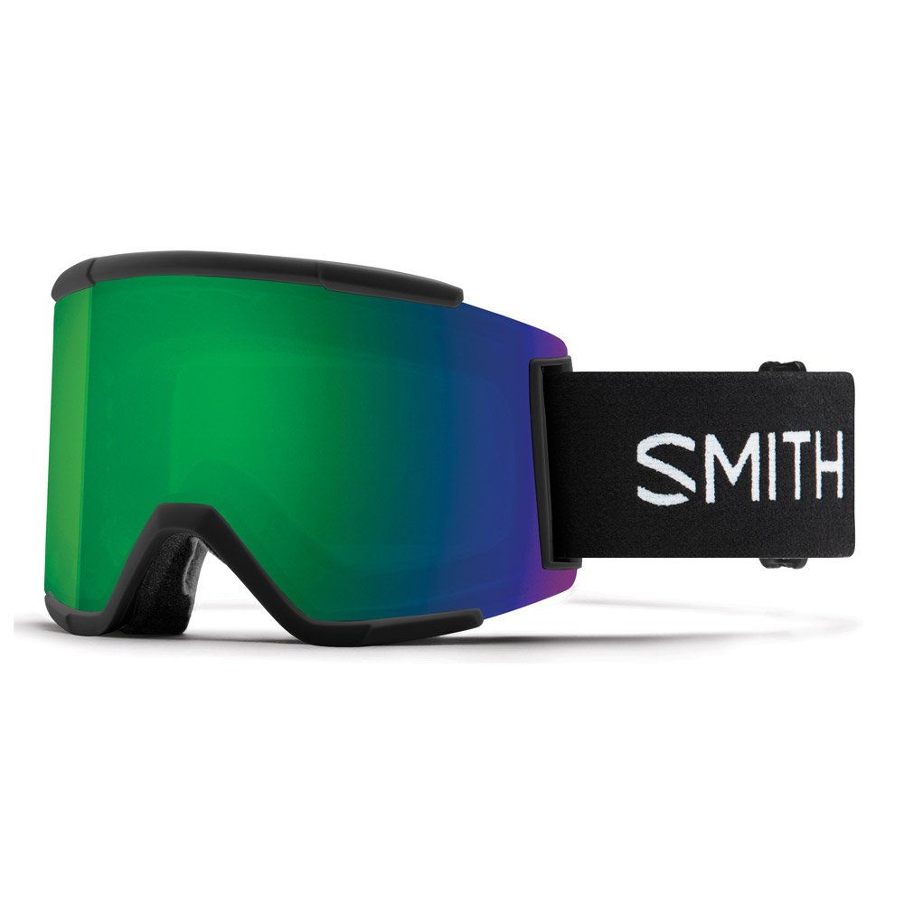 Smith Goggles Squad Xl Black Chromapop Sun Green Mirror + Chromapop Storm Rose Flash General View