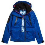 Superdry Blouson Ski Ultimate Moutain Rescue Mazarine Blue Présentation