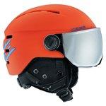 Cebe Casque visière Fireball Junior Matt Orange Blue Orange Flash Mirror Présentation