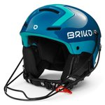Briko Helm Slalom Shiny Blue Light Blue Präsentation