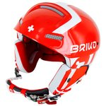 Briko Casque Slalom Suisse Shiny Red White Dos