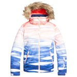 Roxy Ski Jacket Jet Ski Girl Mid Denim Yumi Yamada Print Overview