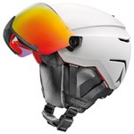 Atomic Skihelm mit Visier Savor Amid Visor Hd White Red Hd Präsentation