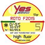 Yes Skiwax Roto-Bürsten-Wachs Roto F2015 5 10gr Präsentation