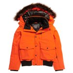 Superdry Skijassen Everest Down Snow Bomber Havana Orange Voorstelling