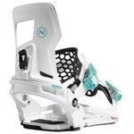 Nidecker Attacchi Snowboard Prime White Black Davanti