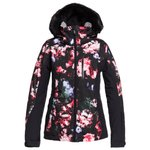 Roxy Blouson Ski Jet Ski Premium True Black Blooming Party Présentation