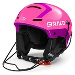 Briko Casque Slalom Shiny Pink Violet Présentation
