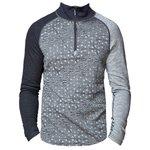 Bula Sous-vêtement technique Geo Merino Wool Halfzip GreyM Présentation