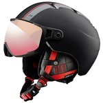 Julbo Casco con visiera Sphere Noir Rouge Zebra Light Red Presentazione