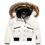 Superdry Blouson Ski Everest Down Snow Bomber White Présentation