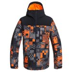 Quiksilver Chaqueta esqui Morton Shocking Orange Radpack Presentación