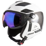 Diezz Casque visière Louna 2 Ventury Carbon White Activilux Ml Blue Cat 1-3 Profil