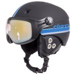 Diezz Casque visière Glide Ventury Black Blue Activlux ML Gold Cat 1-3 Dos