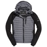 Superdry Daunenjacke Kiso Padded Racer Onyx Black Mix Präsentation