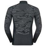 Odlo Langlauf Unterwäschen Blackcomb Ls Halfzip Black Grey Rücken