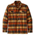Patagonia Camisa Fjord Flannel Plots Burnished Red Presentación