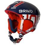 Briko Casque Slalom Norvege Shiny Blue Red White Présentation