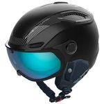 Bolle Skihelm mit Visier V-line Carbon Black Matte Phantom Blue Lens Cat 1-3 Präsentation