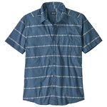 Patagonia Shirt Go To Shirt Hemp Stripe Pigeon Blue Overview