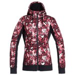 Roxy Fleece Frost Printed Oxblood Red Leopold Voorstelling
