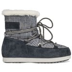 Moon Boot Snow boots Far Side Low Fur Tartan Navy Blue Overview